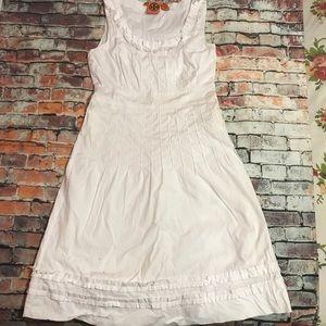 Tory Burch White Sleeveless Flare Dress Size 4
